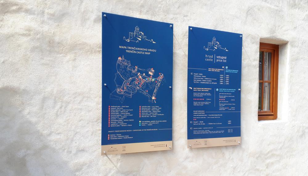 UV tlač tabúl - Trenčianske múzeum