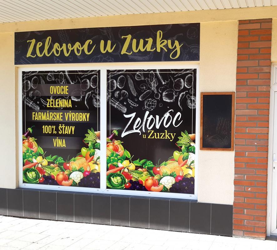 Polep predajne - Zelovoc u Zuzky