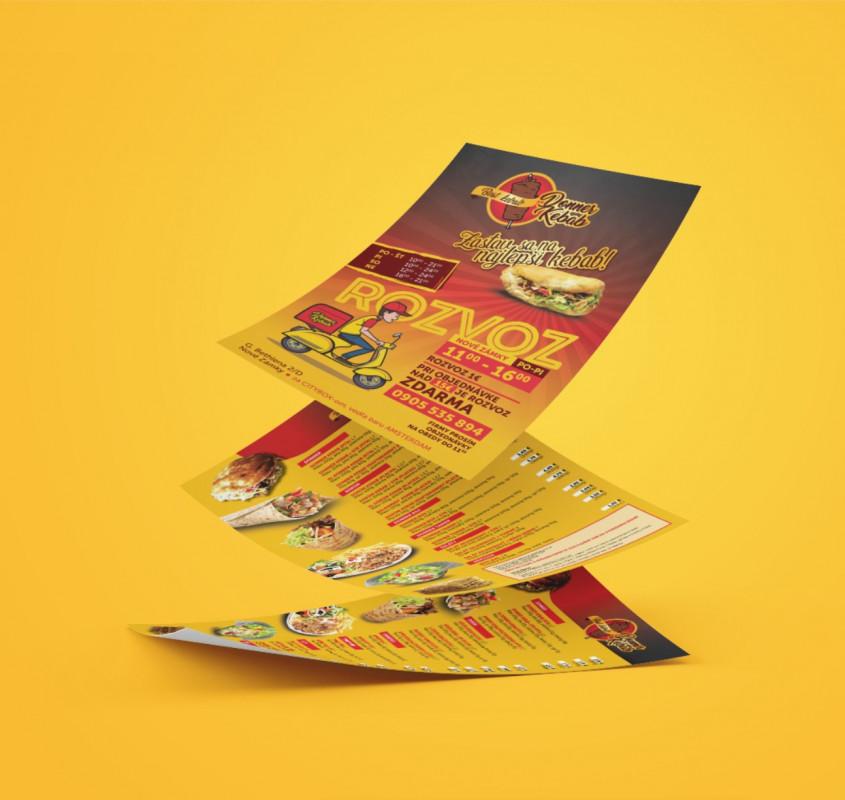 Návrh a tlač letákov A5 Donner Kebab Šurany